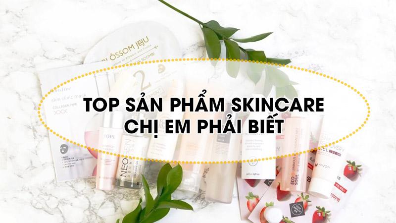 top sản phẩm skincare