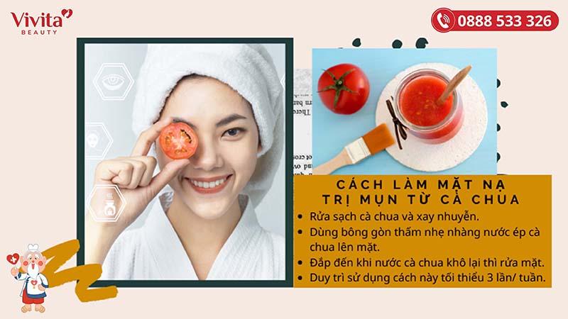 Cách làm mặt nạ trị mụn từ cà chua