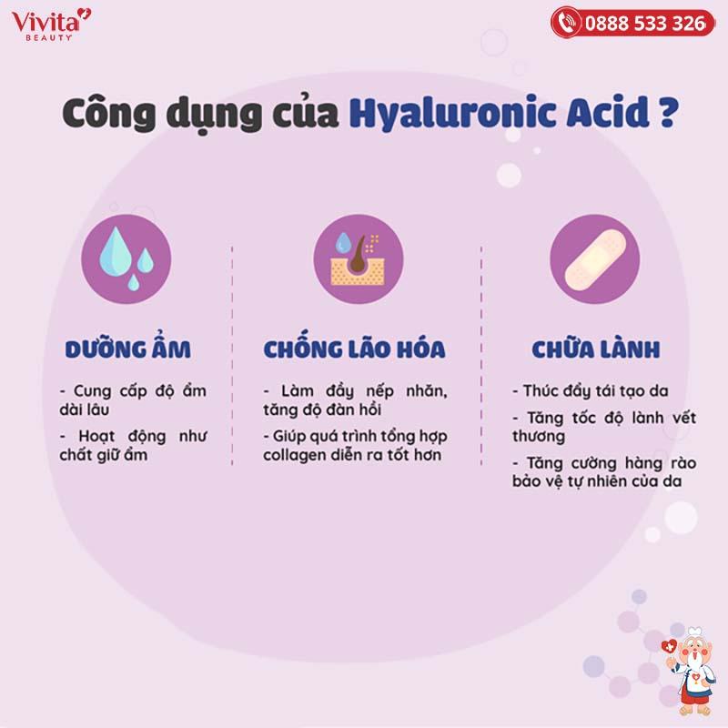 công dụng hyaluronic acid