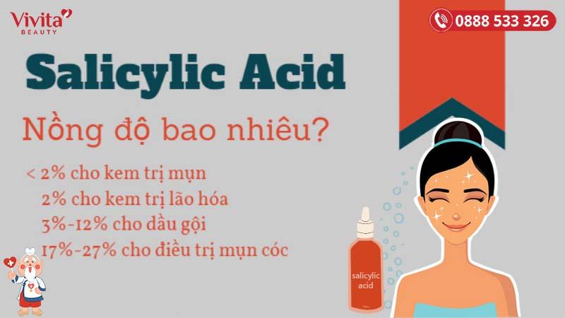 nồng độ Salicylic Acid