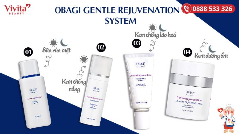 Hướng dẫn sử dụng bộ  Obagi Gentle Rejuvenation System